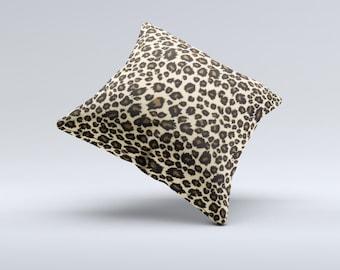 Small Vector Cheetah Animal Print ink-Fuzed Decorative Throw Pillow