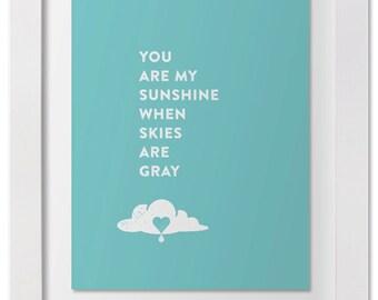 You Are My Sunshine — Wall Art