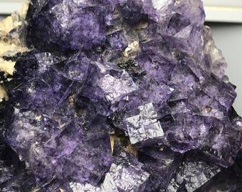 Purple Fluorite w/ Maltese Crosses habit - Elmwood Mine, Smith County,  TN - Rare 288g.