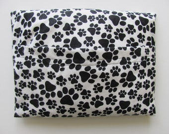 Microwave Heating Pad, Hot or Cold Therapy, Lavender Scented or Unscented, Pet Heating Pad, Paw Prints