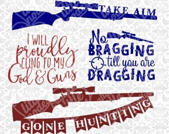 Gone Hunting Shotgun Southern Hunter Gun God Christian SVG dXF sTUDIO  EPS Vector Instant Download Commercial Cutting File Cricut Silhouette