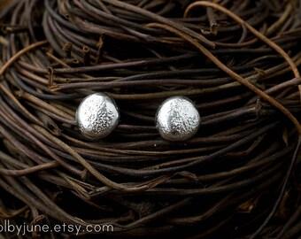Pebble Studs | Sterling Silver or 14k Gold Earrings