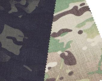 BY THE YARD, 1000 Denier Nylon Cordura Fabric, Multicam Classic, Multicam Black
