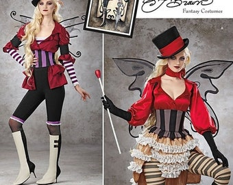 pattern Simplicity Pattern 1301 Misses' Victorian Circus Costumes Steampunk Circus Costume Pattern Size 14, 16, 18, 20, and 22