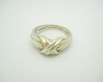 Tiffany & Co. Sterling Silver Signature X Ring Size 6