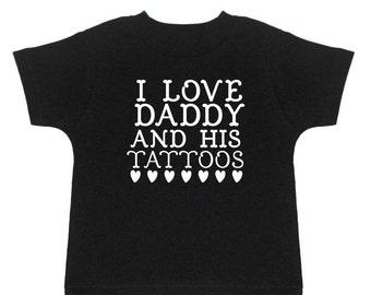 Kids Tattoo Shirt - Dad With Tattoos - Tattooed Dad - Dad Tattoo - Tattoo Artist Dad - Tattoo Tee - Baby Tattoo Shirt - Punk Rock Kids