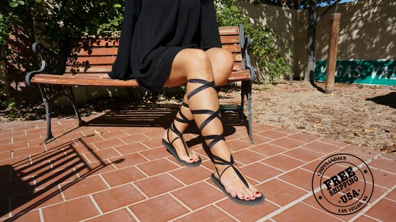 and Black with soles Lace Eco Sandals Up friendly laces vegan Gladiator Black OUxw4Bxqp