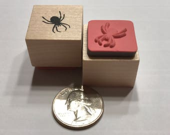 small spider rubber stamp, 20 mm (BB1/4)