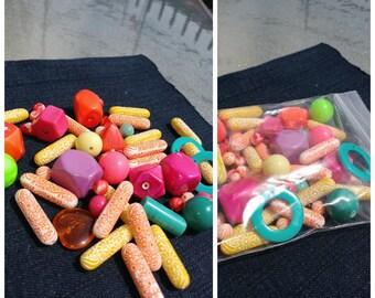 Colorful Retro Bead Lot