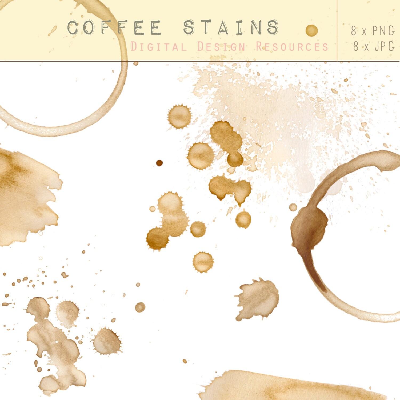 Coffee Stains Digital Design Resource Clip Art Free