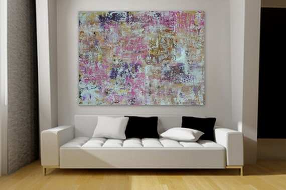 "XL, Huge, Large Original Abstract Painting 48"" x 36"" rolled canvas painting by Marcy Chapman Extra Large Painting"