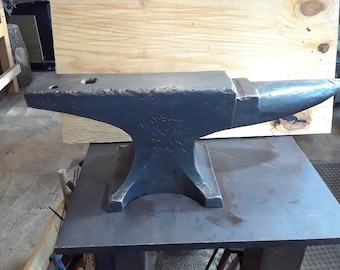 "107 lb.  Hay Budden Anvil  The ""Rolls Royce"" of anvils  Ready for Knife making or general Blacksmithing"