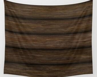 Wood Tapestry, Log Cabin Wall Decor, Log Cabin Tapestry, Log Wall Hanging, Log Tapestry, Log Wall Decor, Log Cabin Wall Art, Log Beams Wall