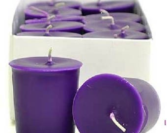 15 Hour Deep Purple Unscented Soy Votive Candles Pick A Pack