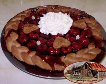 "10"" Cherry Pie Braided Crust Pie Candle"