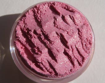 Baby Pink Loose Powder Mineral Eyeshadow | Heavy Gold Shimmer | Carmine Free | Vegan Cruelty Free Mineral Eye Shadow - Dazzle Me