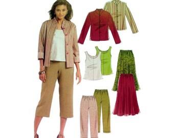 Women's Elastic Waist Skirt, Pants, Jacket, Top Pattern Misses / Petite Size 6-8-10-12 Bust 30-31-32-34 UNCUT McCall's Stitch N Save 5298