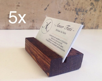 Wooden Business Card Holder. Wood Business Card Stand / Wooden Card Holder / reclaimed wood Card Stand / 5x