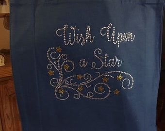 Pretty Bling Wish Upon A Star Tote Bag