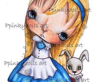 INSTANT DOWNLOAD Digital Digi Stamps..by Chrishanthi's art,Alice.