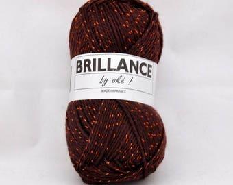 Yarn with lurex shiny No. 411 Brown shine