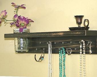 Jewelry Holder Wall/ Jewelry Organizer Wall/ Jewelry Rack/  Headband