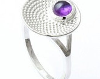 925 sterling silver ring,Handmade ring,Amethyst ring,gemstone ring,silver ring