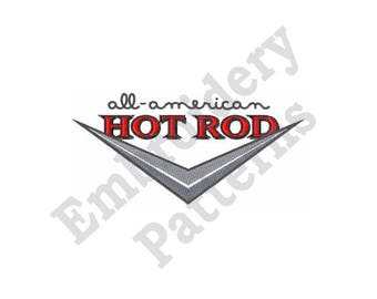All American Hot Rod - Machine Embroidery Design