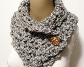 Fashion Neck Warmer Fat Acrylic Yarn With Sparcle