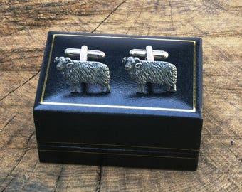 Aries The Ram Cufflinks Pewter UK Handmade Astrology Gift