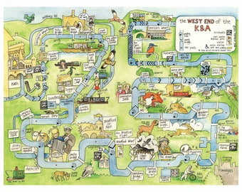 West End of the Kennet and Avon Canal (large map, A3 size)