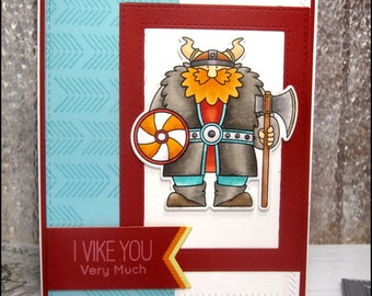 Valentines Day Card ~ Love Card ~ Anniversary Card ~ VDay Card ~ Viking ~ Viking Love~Funny Valentine