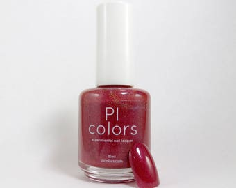 Rheum.011 Holographic Red Nail Polish