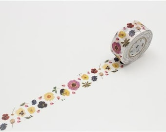 208198 mt Washi Masking Tape deco tape with colorful flower