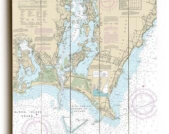 RI: Point Judith Harbor, RI Nautical Chart Sign