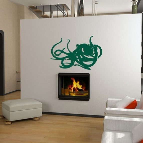 Deep Sea Octopus Vinyl Wall Art