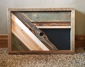 "Reclaimed Barn Wood Art 14""x21"""