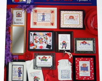 Red Hot Mamas Funny-Culture-Counted Cross Stitch Patterns 11 Patterns New