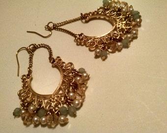 Beaded Drop Earrings, Gifts Under 15.00, Gifts For Her,Accessories,Vintage earrings,Dangle Earrings, Vintage Earrings, Gifts for Girlfriend,
