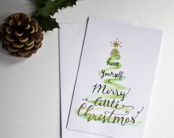 Christmas greeting card / lettering / Christmas wishes