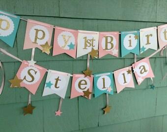 Twinkle Twinkle Little Star Birthday banner