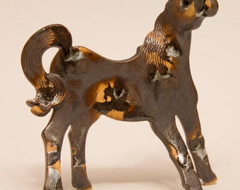 Ceramic Horse, one of a kind, hand built sculpture.