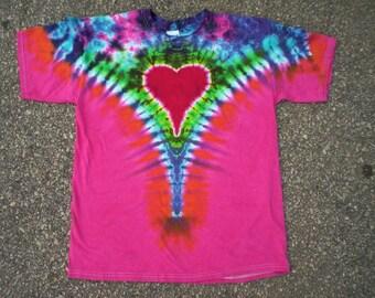 Tie Dye Pretty Heart Size XL