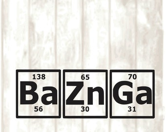 bazinga periodic table svg png eps dxf digital files only