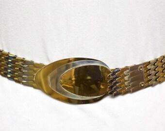 Vintage Fish Scale Metal Belt