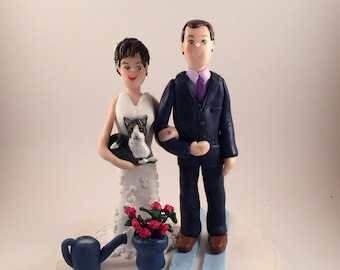 DEPOSIT ONLY!! Custom Polymer Clay Wedding Topper, Clay Couple Figurine, Custom Couple Sculpture, Wedding Cake Topper