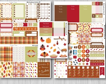 Thanksgiving Vertical Weekly Planner Kit