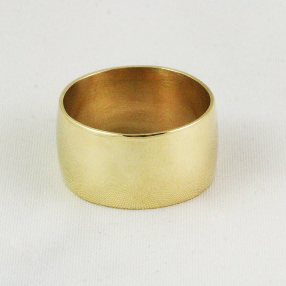 10mm Extra Wide Cigar Band Wedding Ring Solid Gold Heavy