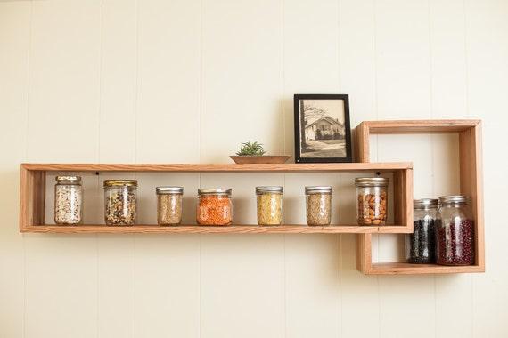 items similar to floating cube shelf  reclaimed wood on etsy