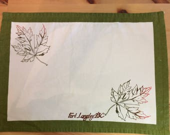 Fort Langley Leaf placemat (sold individually)